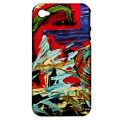 Blue Flamingoes 6 Apple Iphone 4/4s Hardshell Case (pc+silicone)