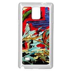 Blue Flamingoes 6 Samsung Galaxy Note 4 Case (white)