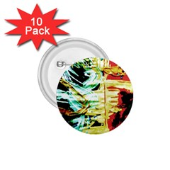 Blue Flamingoes 3 1 75  Buttons (10 Pack)