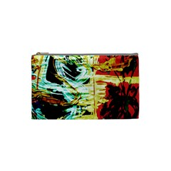 Blue Flamingoes 3 Cosmetic Bag (small)