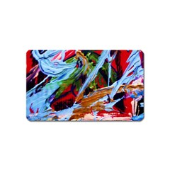 Blue Flamingoes 4 Magnet (name Card)