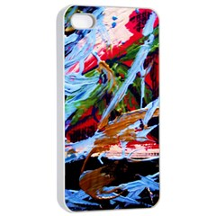 Blue Flamingoes 4 Apple Iphone 4/4s Seamless Case (white)