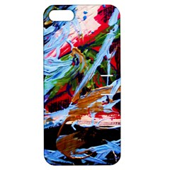 Blue Flamingoes 4 Apple Iphone 5 Hardshell Case With Stand