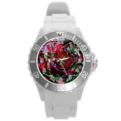 Bloody Coffee 7 Round Plastic Sport Watch (l)