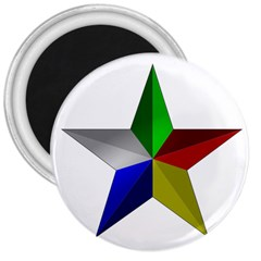 Druze Star 3  Magnets by abbeyz71
