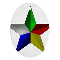 Druze Star Oval Ornament (two Sides)