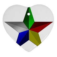Druze Star Heart Ornament (two Sides)