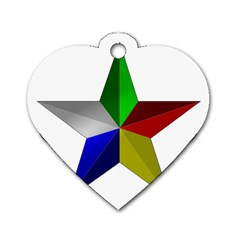 Druze Star Dog Tag Heart (two Sides)