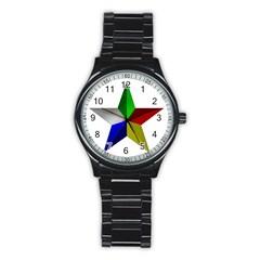 Druze Star Stainless Steel Round Watch