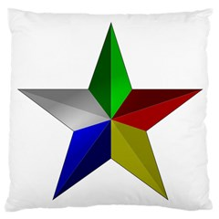 Druze Star Large Flano Cushion Case (one Side)