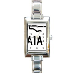 Florida State Road A1a Rectangle Italian Charm Watch