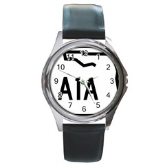 Florida State Road A1a Round Metal Watch