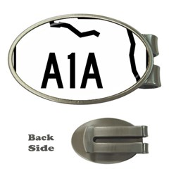 Florida State Road A1a Money Clips (oval)  by abbeyz71
