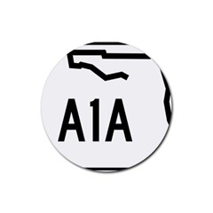 Florida State Road A1a Rubber Round Coaster (4 Pack)  by abbeyz71