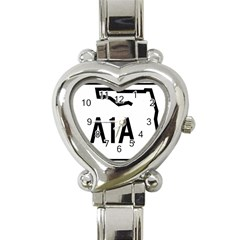 Florida State Road A1a Heart Italian Charm Watch by abbeyz71