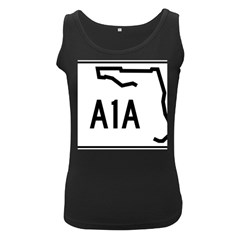 Florida State Road A1a Women s Black Tank Top