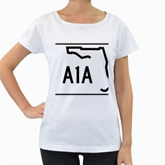 Florida State Road A1a Women s Loose Fit T Shirt (white)