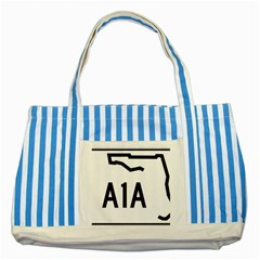 Florida State Road A1a Striped Blue Tote Bag by abbeyz71