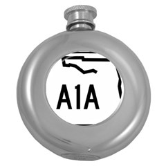 Florida State Road A1a Round Hip Flask (5 Oz) by abbeyz71