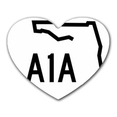 Florida State Road A1a Heart Mousepads by abbeyz71