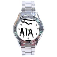 Florida State Road A1a Stainless Steel Analogue Watch