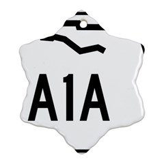 Florida State Road A1a Snowflake Ornament (two Sides) by abbeyz71