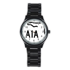 Florida State Road A1a Stainless Steel Round Watch by abbeyz71