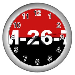 The 26th Of July Movement Flag Wall Clocks (silver)