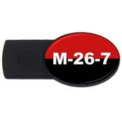 The 26th Of July Movement Flag Usb Flash Drive Oval (4 Gb)