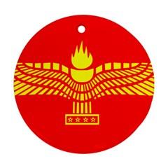 Aramean Syriac Flag Ornament (round)