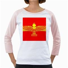 Aramean Syriac Flag Girly Raglans