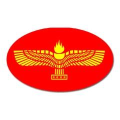 Aramean Syriac Flag Oval Magnet by abbeyz71