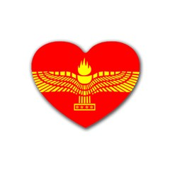 Aramean Syriac Flag Heart Coaster (4 Pack)
