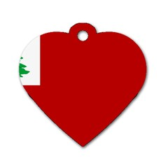 Revolutionary War Flag Of New England Dog Tag Heart (two Sides) by abbeyz71
