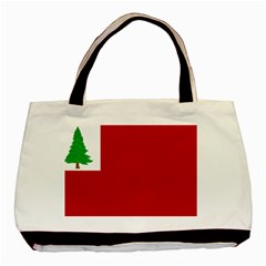 Revolutionary War Flag Of New England Basic Tote Bag (two Sides)