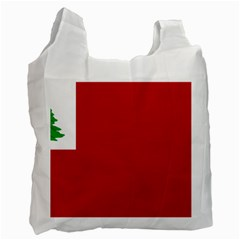 Revolutionary War Flag Of New England Recycle Bag (two Side)  by abbeyz71