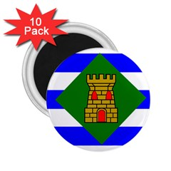 Flag Of Vieques 2 25  Magnets (10 Pack)