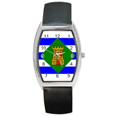 Flag Of Vieques Barrel Style Metal Watch