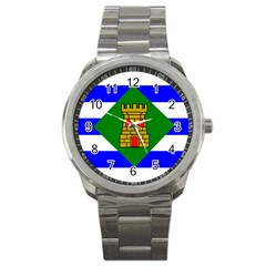 Flag Of Vieques Sport Metal Watch
