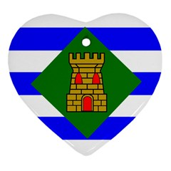 Flag Of Vieques Heart Ornament (two Sides) by abbeyz71