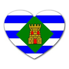 Flag Of Vieques Heart Mousepads by abbeyz71