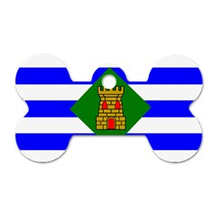 Flag Of Vieques Dog Tag Bone (two Sides)