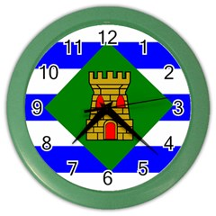 Flag Of Vieques Color Wall Clocks