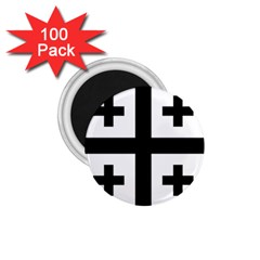 Black Jerusalem Cross  1 75  Magnets (100 Pack)  by abbeyz71
