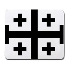 Black Jerusalem Cross  Large Mousepads