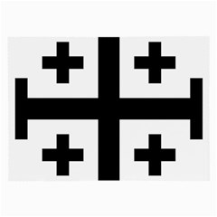 Black Jerusalem Cross  Large Glasses Cloth (2 Side)