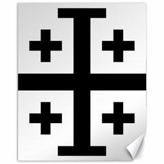 Black Jerusalem Cross  Canvas 11  X 14