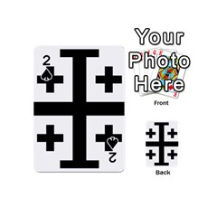 Black Jerusalem Cross  Playing Cards 54 (mini)