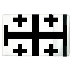 Black Jerusalem Cross  Apple Ipad 3/4 Flip Case by abbeyz71