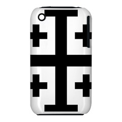 Black Jerusalem Cross  Iphone 3s/3gs